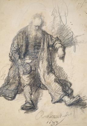 Städels Erbe Rembrandt Sitzender Greis